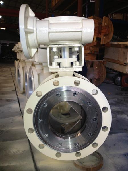 com vq347f涡轮v型球阀 蜗轮球阀 v型球阀厂家价格产品属性: 型号:v图片
