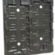 昆山超雅黑色PET打孔吸塑盒加工图片