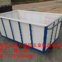 供应洗水厂专用斗车塑胶桶染布车