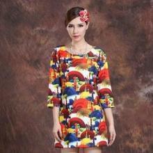 供应新款欧版女装明星印花连衣裙