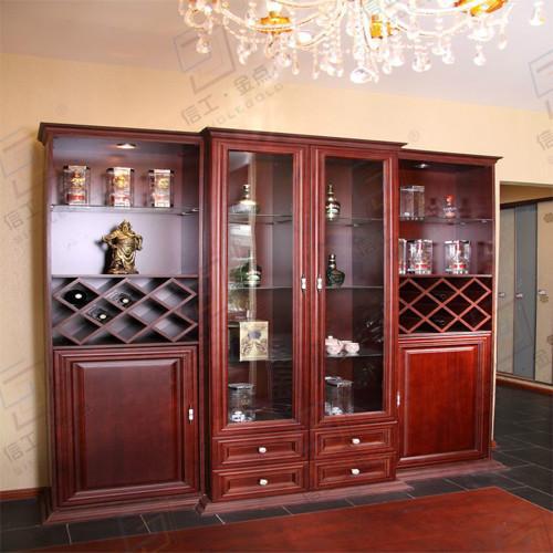 现代实木酒柜图片