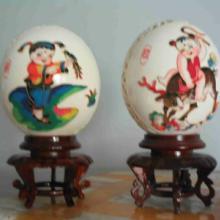 鸵鸟蛋工艺品  鸵鸟蛋雕刻鸵鸟蛋