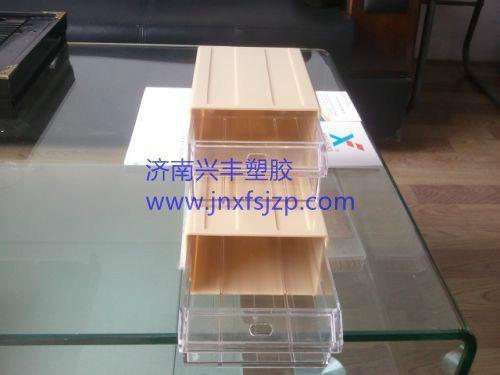 供应山东抽屉式透明元件盒积木式零件盒
