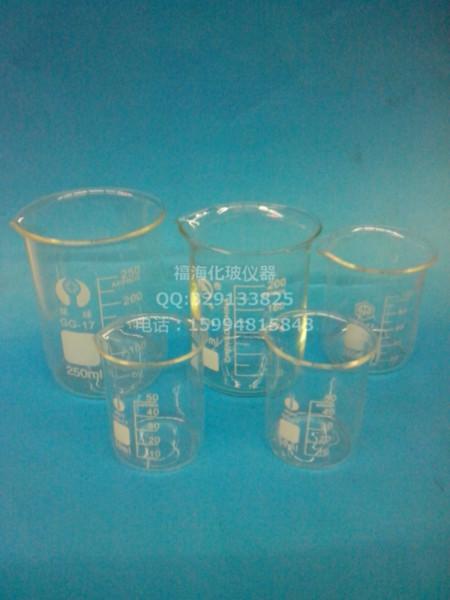 广东玻璃烧杯1000ml  广东玻璃烧杯 实验烧杯低型烧杯 具嘴/GG-17料 耐高温