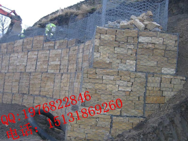 海防格宾石笼网pvc包塑石笼网生态防护网安平石笼网厂家