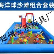 户外儿童充气沙滩池图片