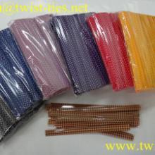 供应8mm彩色印刷塑料扎带