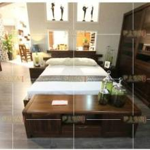 凯纳维亚北美黑胡桃纯实木床 1.5 1.8米床图片