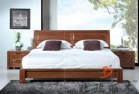供应榆木床边柜 上海实木家具厂 榆木家具价格图片