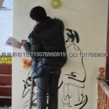 供应江西抚州茶楼彩绘壁画是用什么材料18070038919图片
