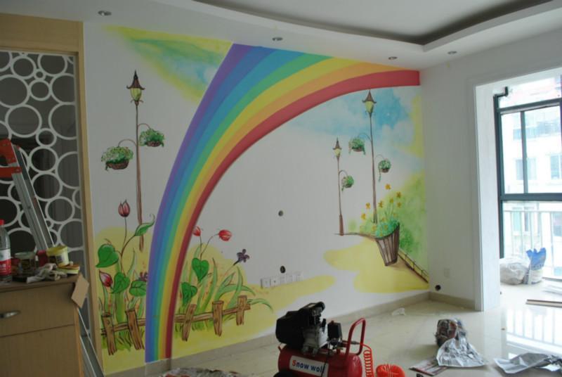 供应最环保电视背景墙装饰南昌彩绘