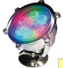 供应LED大功率水底灯水池灯水景灯,大功率七彩渐变水底灯,彩色多变水底灯批发
