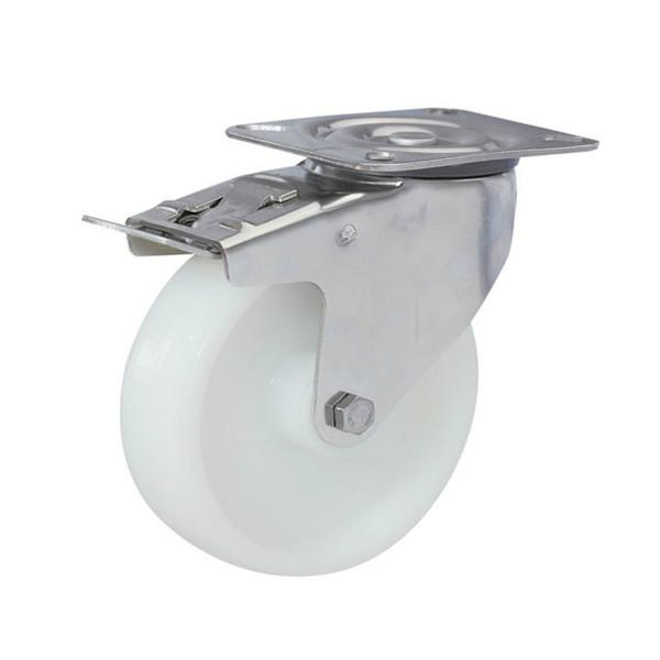 不锈钢脚轮白尼龙轮红聚氨酯轮图片/不锈钢脚轮白尼龙轮红聚氨酯轮样板图 (1)