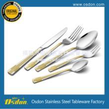 供应不锈钢西餐餐具不锈钢镀金餐具批发