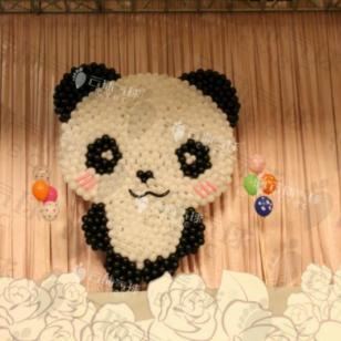 熊猫主题宝宝宴/气球宝宝宴/氦气球图片