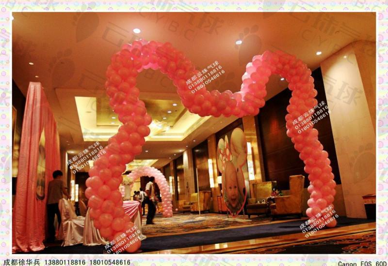 供应卡通造型拱门/气球拱门/气球造型/成都气球装饰/气球装饰布置