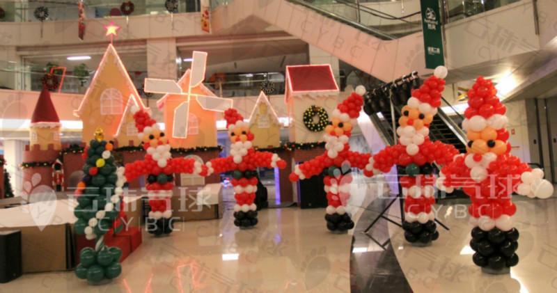 供应圣诞树/圣诞老人/麋鹿/铃铛/圣诞节气球装饰