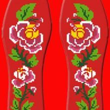 鸿运玫瑰新品手工制作纯棉无添加十字绣鞋垫
