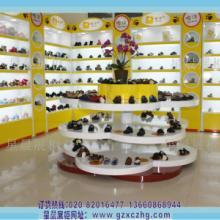 供应儿童鞋店装修设计童鞋展柜图XC321高密度板广州星晨展柜厂批发