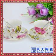青花瓷咖啡具图片