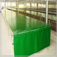 绿色帆布印花台皮图片