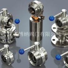 供应不锈钢卫生级焊接蝶阀PN10 DN65批发