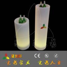 供应主题公园发光花盆 led塑料充电花盆 园林庭院花盆