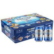 供应哈尔滨啤酒代理批发 哈尔滨冰纯啤酒330ml24听装45元特价