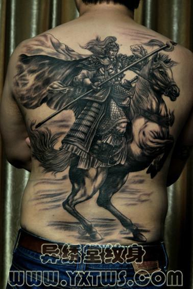 常山赵子龙纹身图案石家庄洗纹身图片图片