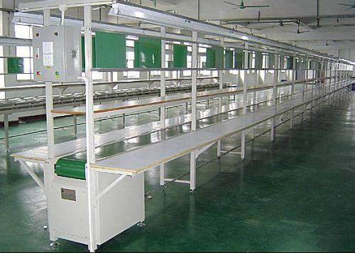 供应深圳PVC皮带流水线图片