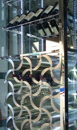 供应广州不锈钢酒架来图订做,优质不锈钢红酒架批发,不锈钢酒柜价格