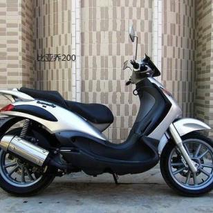 比亚乔200摩托车图片
