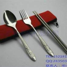 供应侧边拉链布袋餐具套装创意个性礼品餐具厂家直销便携餐具套装批发
