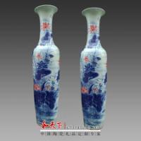 htx欧式陶瓷落地大花瓶 酒店大堂装饰落地大花瓶