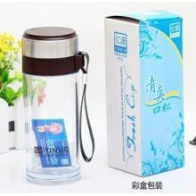 供应珠海新型双层隔热玻璃杯广告塑料咖啡杯批发批发