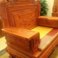 东阳鲁创红木家具供应缅甸花梨木楚韵沙发 图片|效果图