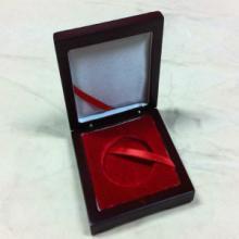 供应精美中纤板木盒纪念币纪念章盒子【有现货】