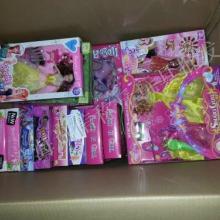 供应杂款芭比类玩具称斤批发出售
