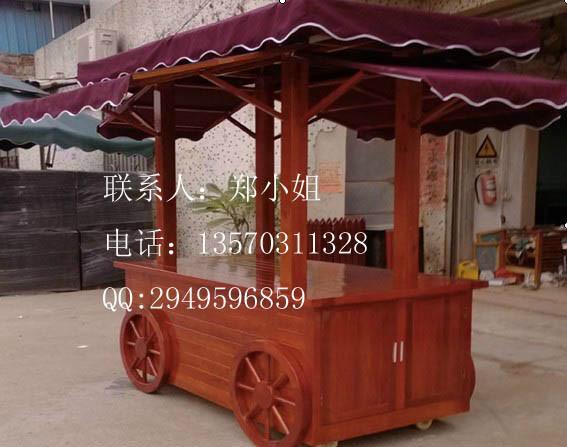 户外木制售货车销售