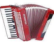 金杯牌JH2022 34键72BS贝司5/0变音琴三排簧键盘手风琴初