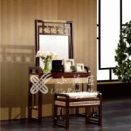 藤家具 梳妆台凳 藤木梳妆台椅图片