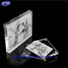 供应亚克力透明相框 有机玻璃创意相片架 压克力磁铁相框、相架