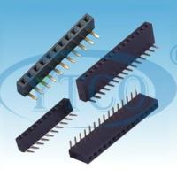 供应2.54mm间距排母单排双排连接器