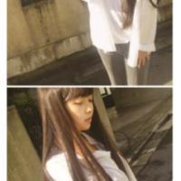 女生齐刘海长直发假发