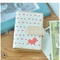 韩版新款可爱色多卡套卡包桃心卡套