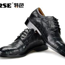 供应TERSE特色进口鳄鱼皮皮鞋 固特异纯手工 商务宴会奢男鞋图片