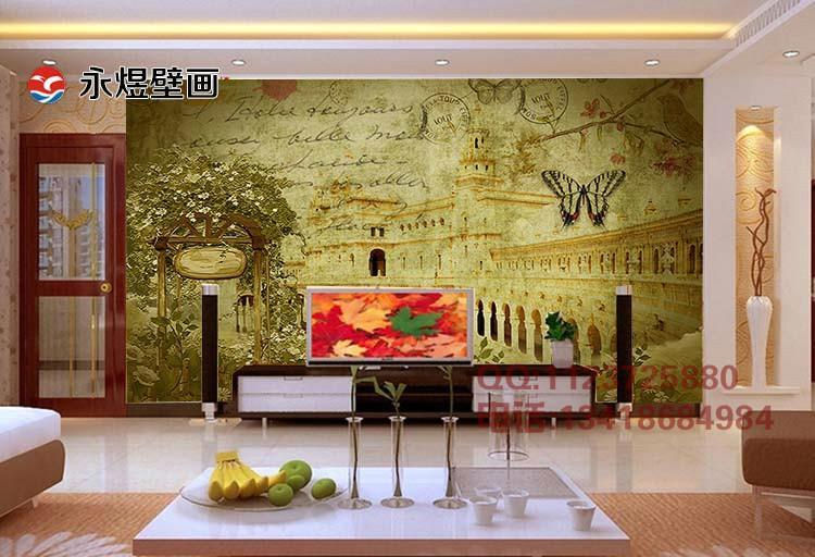大型3d立体壁画电视背景墙纸壁纸样板
