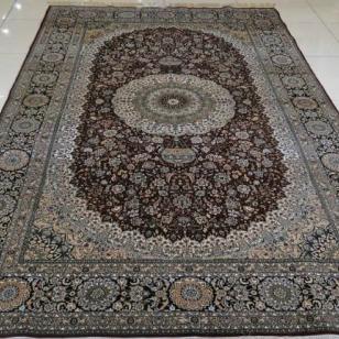 波斯传统经典手工编织丝毯图片
