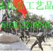 八路军人物雕塑图片