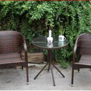 户外桌椅酒吧咖啡厅编藤桌椅子图片